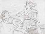 Lifedrawing: Old Lovers by ph00