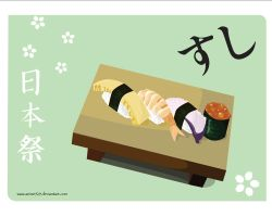 Japanese festival wp - sushi by anime529