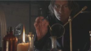 Mr. Gold's potions in his basement by LightninBluEyes