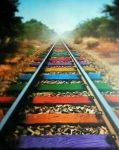 Colourful Railway by mobile9dotcom
