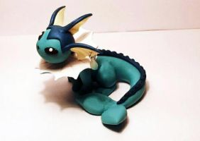 desk vaporeon by KiwiPheonix