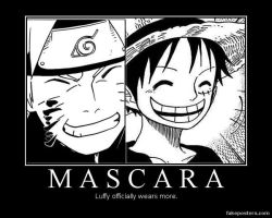 Luffy wears more makeup than Naruto by HolderofTruth