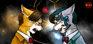 11th Doctor VS Mr.Clever by norang94