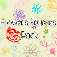 Flowers Brushes Pack' by FridaKltz