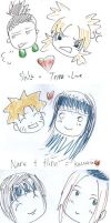 XY+XX naruto pairings by yourfisharemine