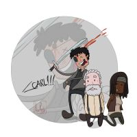 Carl killing governor by HuzRedy