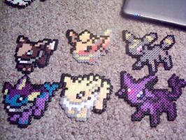 Evee Evolutions by Ravenfox-Beadsprites