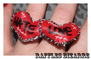 love hate double ring by prettyboyswearpink