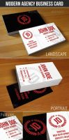 Modern Agency Business Card by madebygb