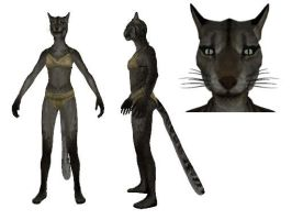 MMD Khajiit Female by 0-0-Alice-0-0