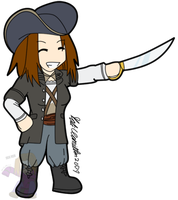 Chibi Pirate Hamilton by HomunculusLover