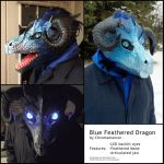 Blue Feathered Dragon by Chromamancer