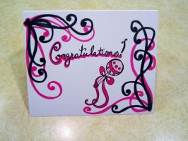 9 11 2013 Congratulations Baby Girl Card by MyThoughtsAreDeep