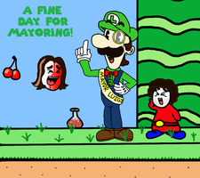 Game Grumps - Mayor Luigi by JewFro29