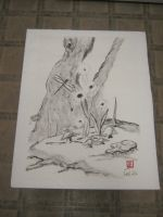 Sumi Trunk with flowers by Iolii