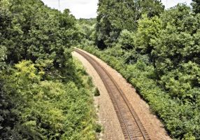 Train Tracks in a small valley by SD-Designs