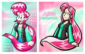 Redraw of Old Alice Drawing by yooki42