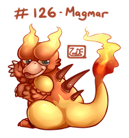 126 - Magmar by oddsocket
