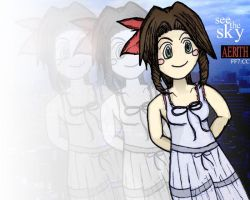 FFVII - See The Sky, Aerith by MikeOnHighway61