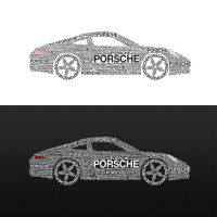 Porsche 911 Typography by Lymos