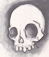 Marker skull by ink-justin