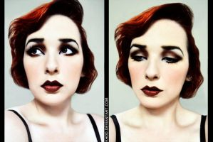 Makeup: 1920's by Khdd