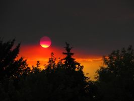 afternoon with the blood red sun by kthehobbit