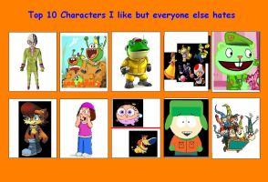Top 10 Characters I Like But Everyone Hates by chalatso