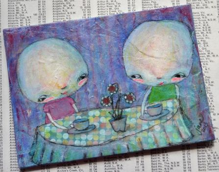The Tea Party by JaneCoquillon