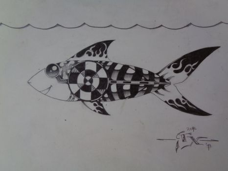 Fish doodle by Ronald-Martha
