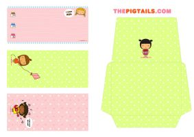 Pigtails Letterset by jazgirl