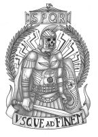 Roman Legionary tattoo by thehoundofulster