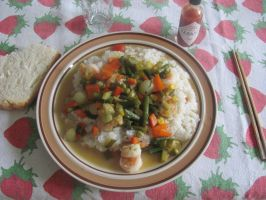 Shrimp and Vegetable Risotto by DragonoftheEastblue