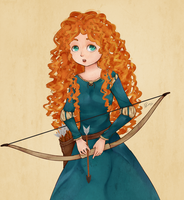 Merida, the Brave by AnitaAmorim