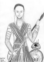 Rey and BB-8 from TFA by EysteinKN