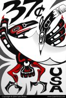 Pacific NW Indian Stamp Red by tylersticka
