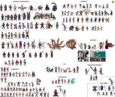 One Year of Sprites by ShinySeabass