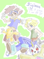 Digimon tegakiE scribble by Pandablubb
