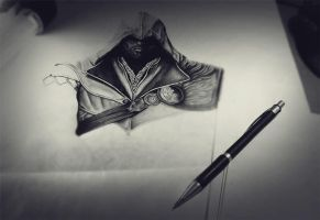 Assassin's Creed  Ezio Auditore WIP by lPinhead