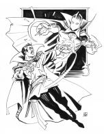 Doctor Strange and Doctor Fate by deankotz