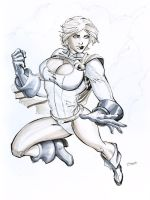 Power Girl marker by cehnot