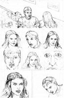 Peter Parker penciled practice pages page two by tomographiser