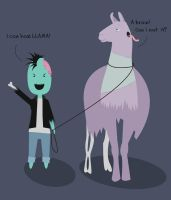 Zombies can haz Llamas by KoolZombie