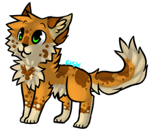 art trade || Freckled-kat by choco-bit
