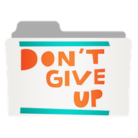 Don't Give Up Folder by FlyerStorm