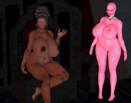 Randoms - pink doll and owner by Dollmistress