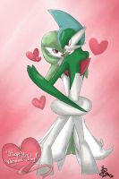Gardevoir and Gallade by IqbalPutra