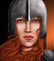 Red-Haired Warrior by Dragonavicious
