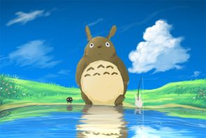 Totoro - water tutorial -link- by GaaraJamiE88