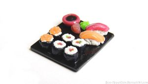 Sushi Plate Charm by Bon-AppetEats